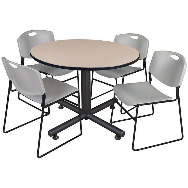 staples stacking chairs cherner table and round stack chair set tkb48rndbe44gy