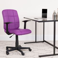 Purple Task Chair Morris Antique Mid Back Go 1691 1 Pur A Gg Our Quilted Vinyl Swivel Office With Arms Is On Sale