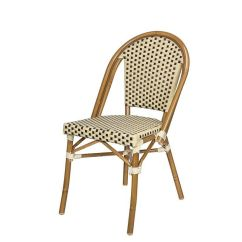 Stackable Chairs For Less Wayfair Dining Source Contract Paris Indoor/outdoor Armless Side Chair With Light Bamboo Aluminum ...