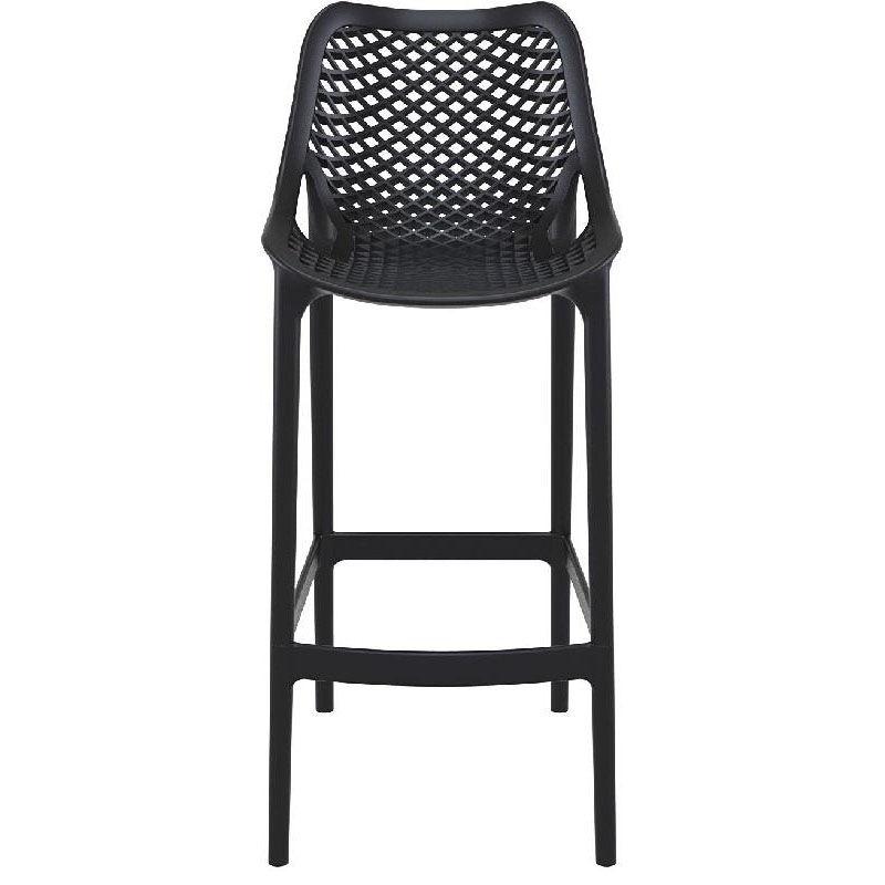 Black Resin Outdoor Barstool Isp068 Bla Restaurantfurniture4less Com