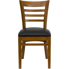 Wooden Restaurant Chairs How To Paint Cane Back Cherry Wood Chair Blk Vinyl Bfdh 8241cbk Tdr