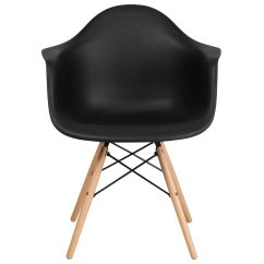 Black Plastic Chair With Wooden Legs How Much Are Massage Chairs Alonza Series Inset 3