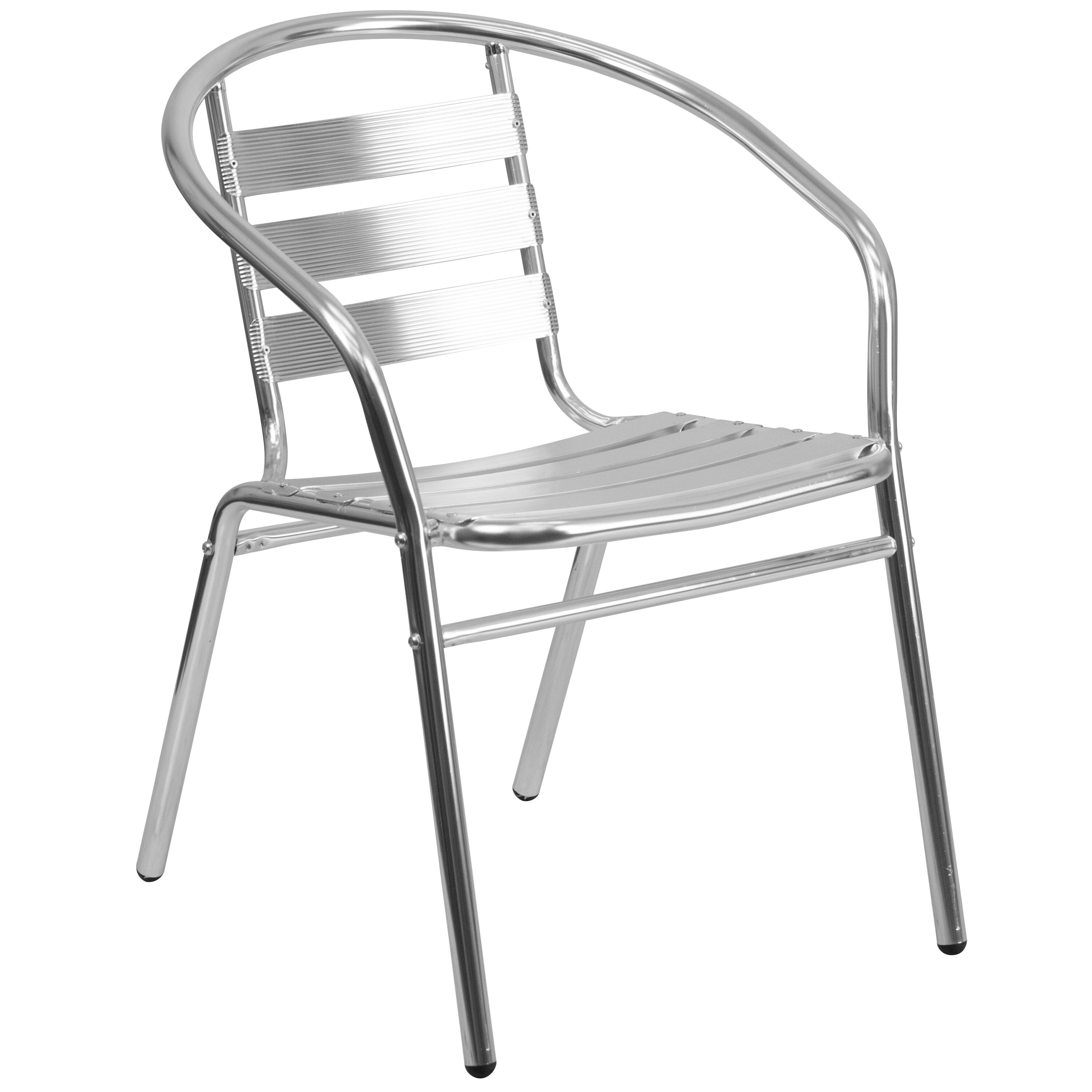 outdoor aluminum chairs baby lawn chair restaurantfurniture4less commercial indoor restaurant stack with triple slat back and arms