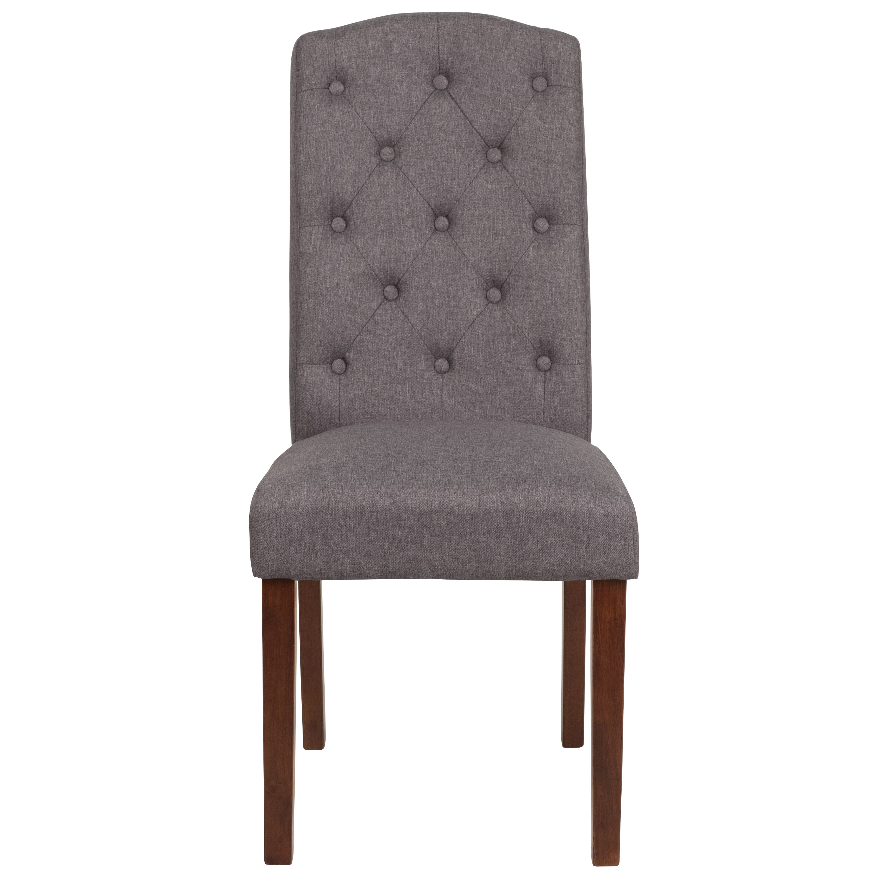 Gray Fabric Parsons Chair QY-A18-9325-GY-GG ...