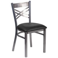 Restaurant Chairs For Less Folding Chair Covers Walmart Canada Clear X Black Seat Bfdh 6147clrbk Tdr