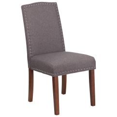 Grey Parsons Chair Compact Beach Gray Fabric Qy A13 9349 Gy Gg