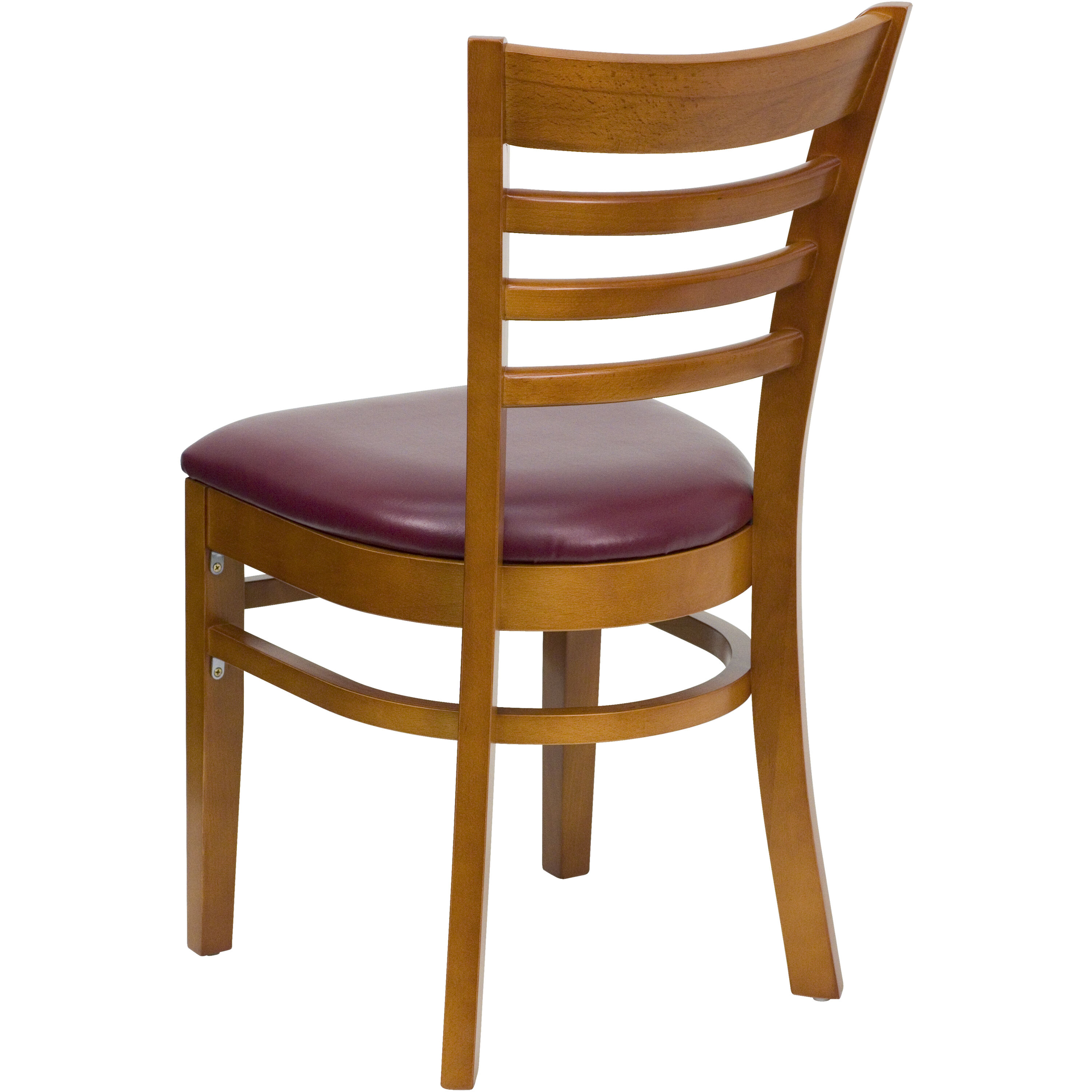 wooden restaurant chairs little tikes doll high chair cherry wood burg vinyl bfdh 8241cby tdr