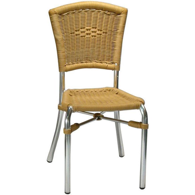 Armless Rattan Patio Chair 7029
