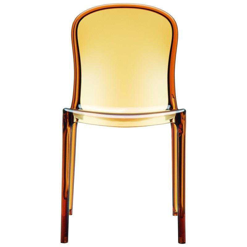 see through dining chairs parsons chair covers amber stacking isp033 tamb