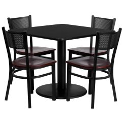 Restaurant Chairs For Less Chair Cover Hire Isle Of Man 36sq Bk Table Ma Wd Seat Rest 0008 Mhw Tdr