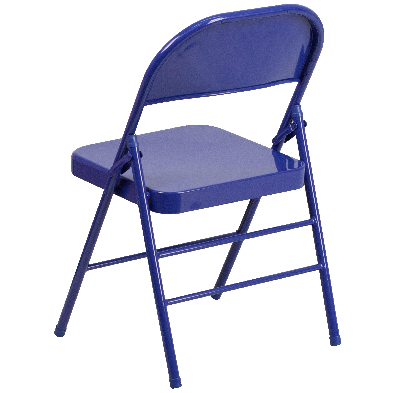 blue metal folding chairs true office cobalt chair hf3 gg