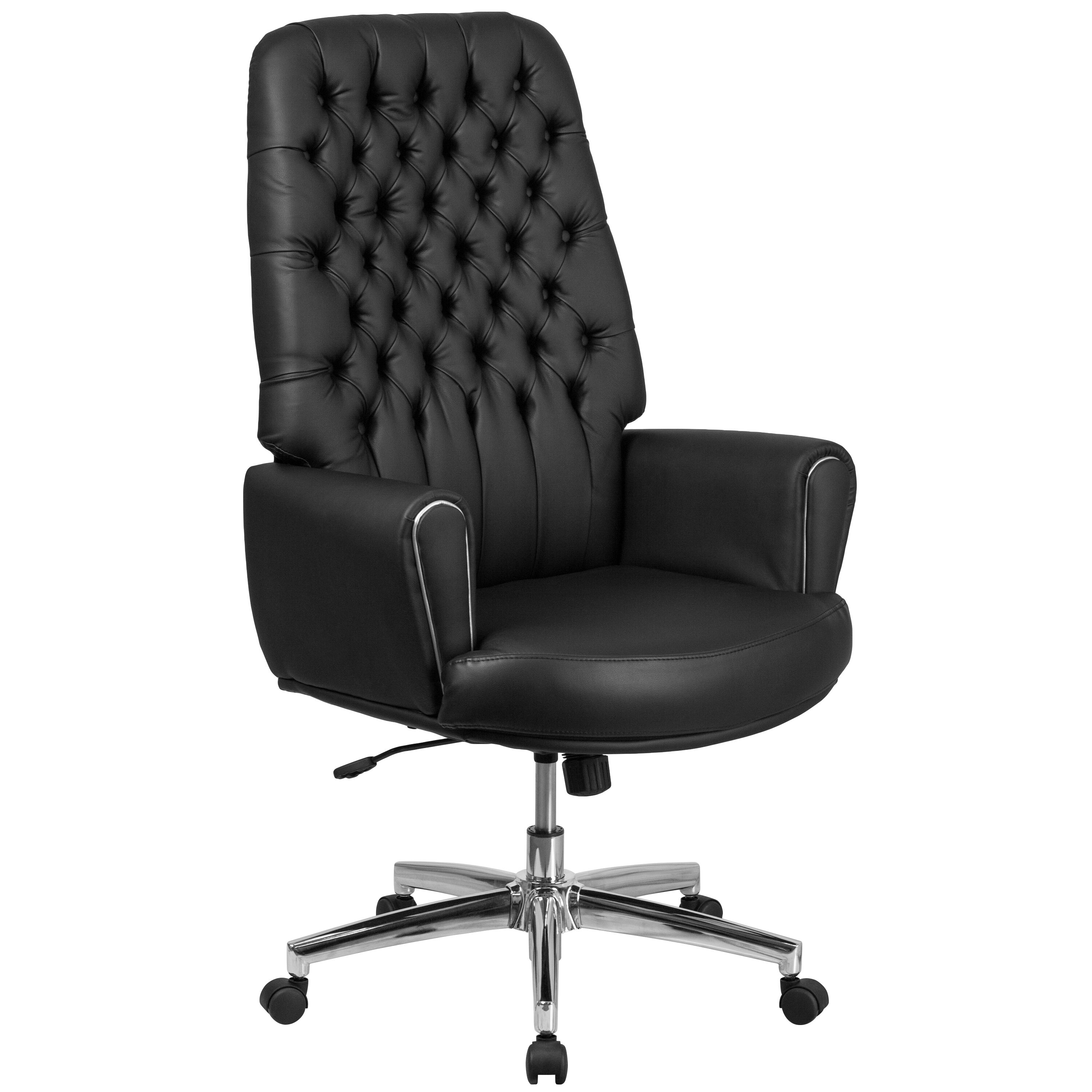 images our high back traditional tufted black leather executive swivel office chair  [ 2000 x 2000 Pixel ]