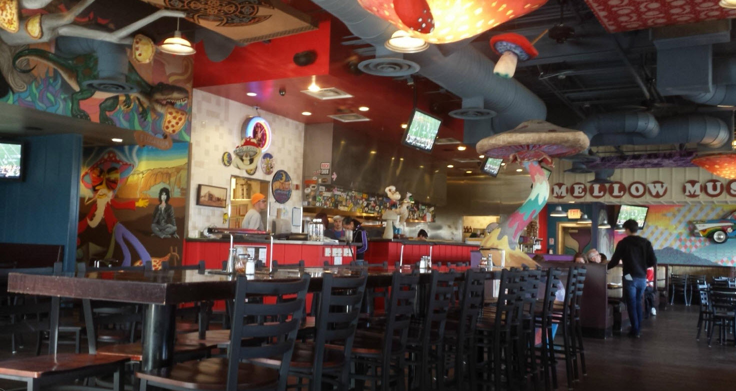restaurant supply chairs knitted revolving chair furniture - company blog | mellow mushroom upgrades its seating