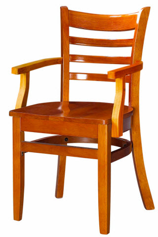chair with arms cheap covers amazon ladder back wood restaurant