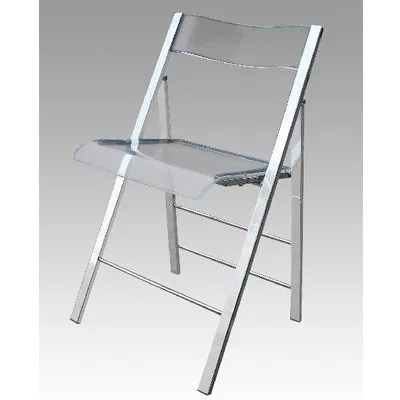Lucite Folding Chairs Set of 2  Restaurant Furniture