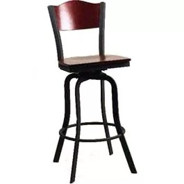 Cardinal Wood Stool and Metal Stool