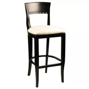 Biedermeier Wood Bar Stool