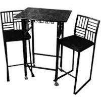 Geometric Bar Stool and Table Set