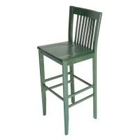 Constance Wood Bar stool in Green - Restaurant Furniture ...