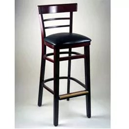 Ladder Back Wood Bar Stool