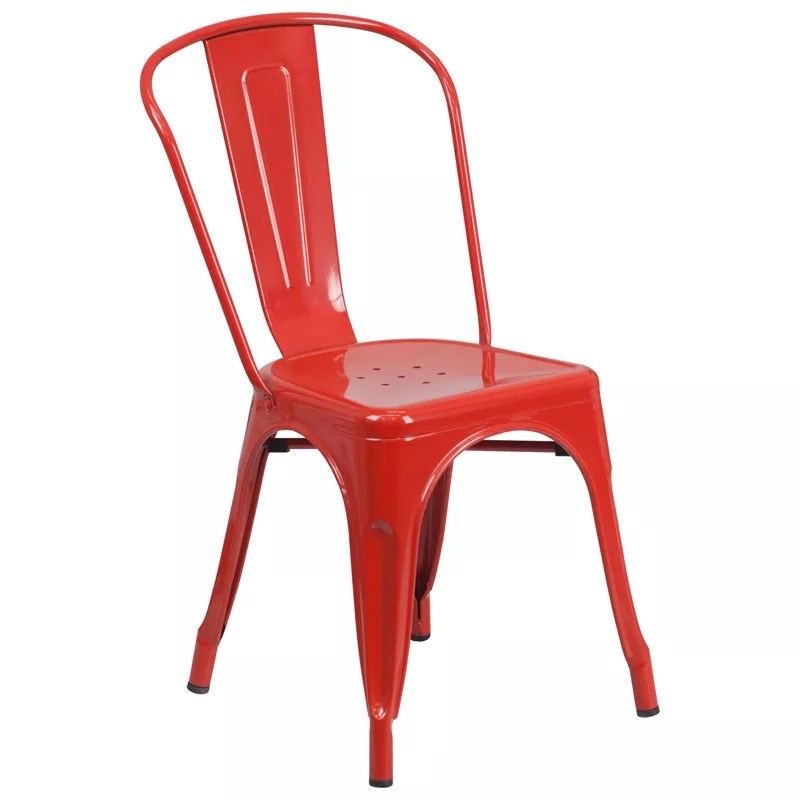 Home / Shop / Metal Dining Chairs / Stackable Bistro Style Metal Chair