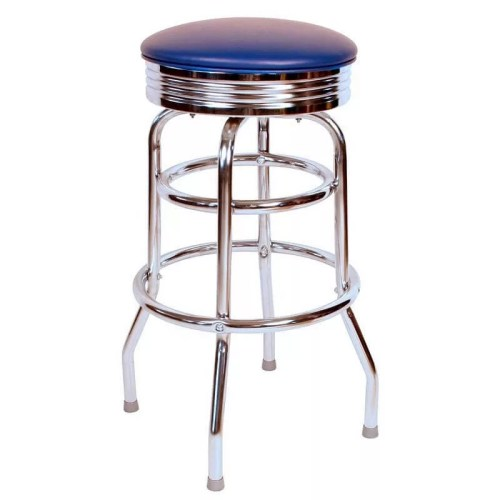 Chrome Circle Swivel Bar Stool