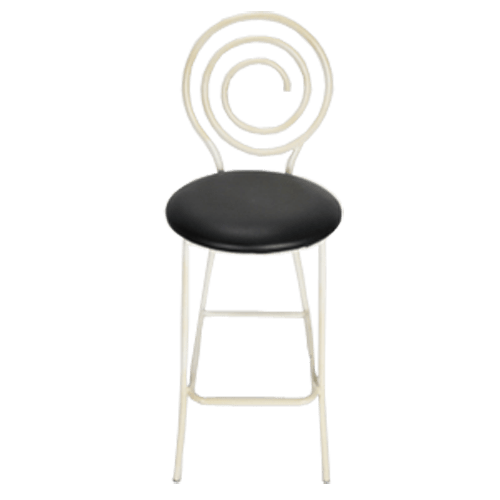 "Circular Back Metal 30"" in Stool Black"