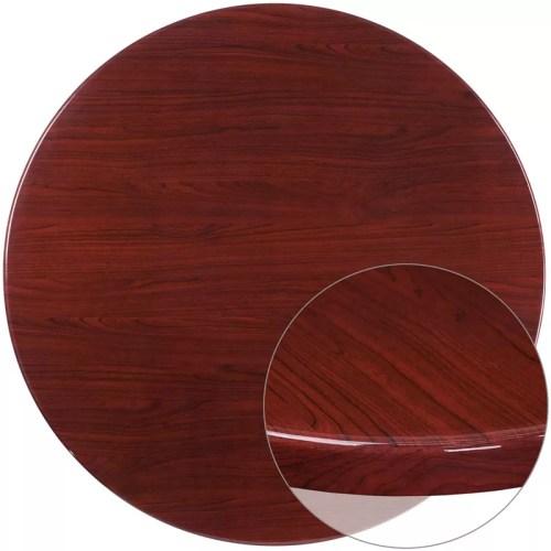 "Resin Table Top 48"" Round Mahogany"
