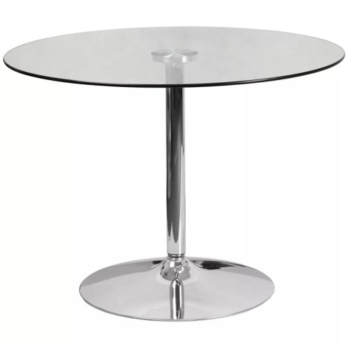 Round Glass Cocktail Table in 39.25""