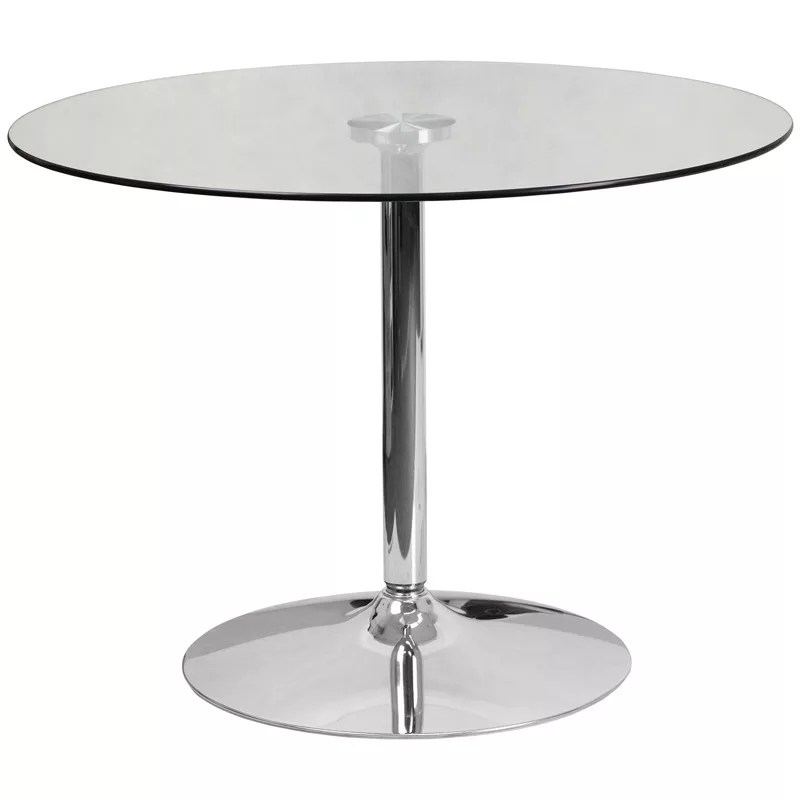 Home / Shop / Tables Under $150.00 / Round Glass Cocktail Table In 39.25u2033