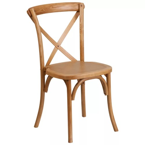 Cross Back Stackable Wood Chair