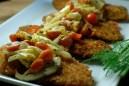Lightened Up Wiener Schnitzel with Tomato & Fennel Salad
