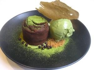 green tea lava cake