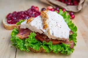 Roast Turkey Club Sandwich with Cranberry Sauce 500 2746