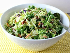 broccoli, kale, and Brussels Sprouts Slaw lt