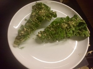 Romaine Lettuces with Pistachio