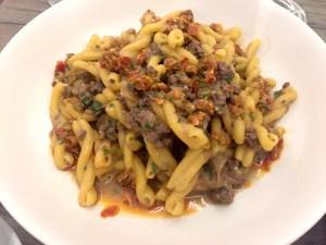 Cavatelli with Chicken Livers