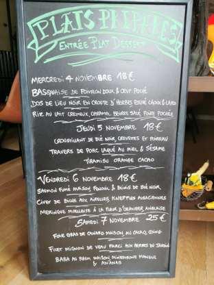 Menus à emporter Le Bretagne - Restaurant Lorin - novembre 2020 -1
