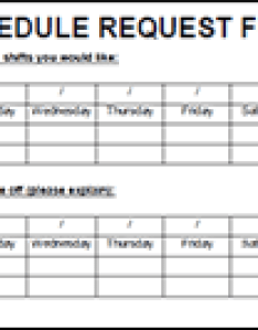 also employee schedule request form rh restaurantowner
