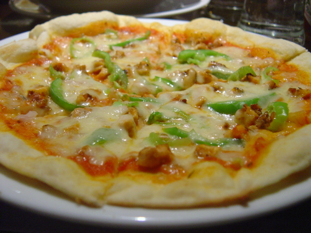 Fiesta chicken pizza
