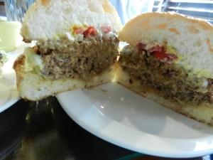 Gourmet chili burger