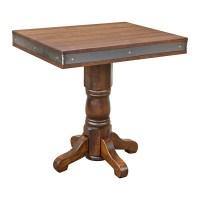 Rustic Maple Table w/ Metal Edge   Barn Furniture