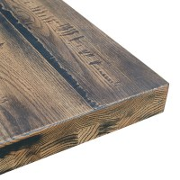 Rustic Oak Table Top - Antique Black Finish | Barn Furniture