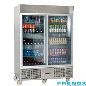 Vitrine kjøleskap med 2 dører 1300 liter Frenox GN13-G-R290