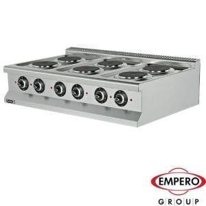 Elektrisk koketopp med 6 plater.