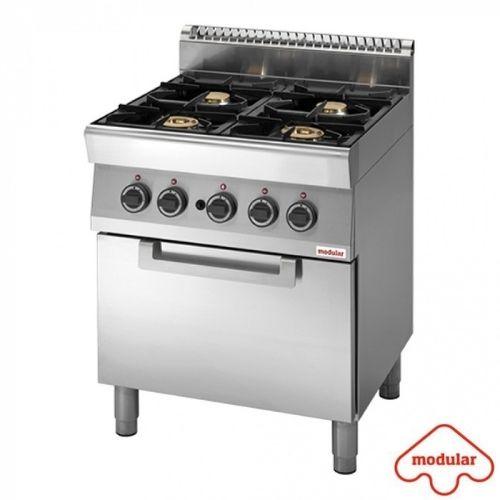 Gasskokebord med 4 kokeplater og ovn - 23400 Watt – 70×70 – Modular Funksjon 700