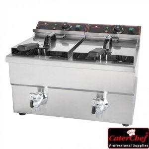 Frityr 8+8 liter - 2X3250W - CaterChef