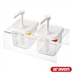 Ketchup, saus dispenser (2x02,6L) - Araven