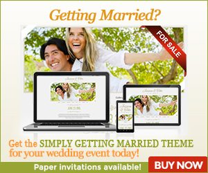 Simply Getting Married Theme - Wedding Website & Invitations