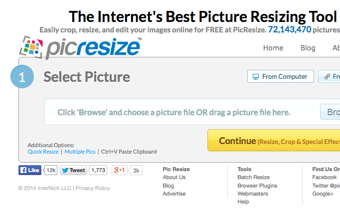 Resizing and Cropping images without photoshop - Restaurant Spider